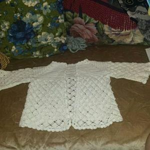 Vintage Hand Crochet Baby Sweater